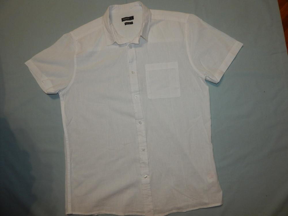 Peacocks рубашка мужская натуральная лёгкая рl белая фото №1