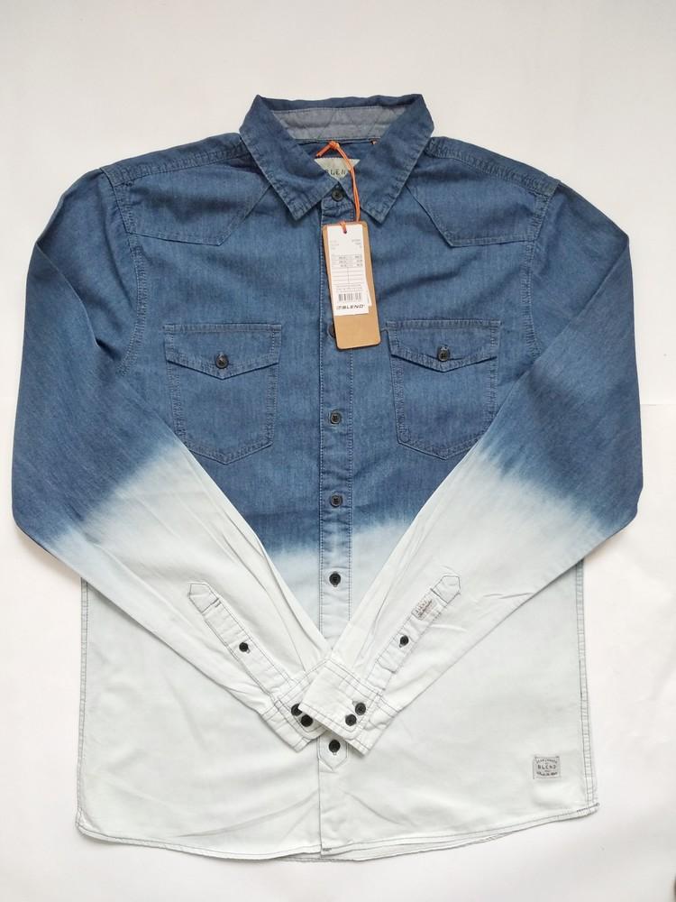 Мужская рубашка длинный рукав размер л фото №1