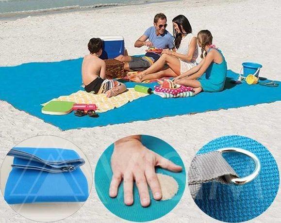 Пляжная подстилка, пляжный коврик антипесок, анти - песок, пляжний килимок sand mat | 125*200 фото №1