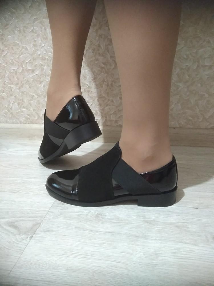 Шикарные лаковые туфли фото №1