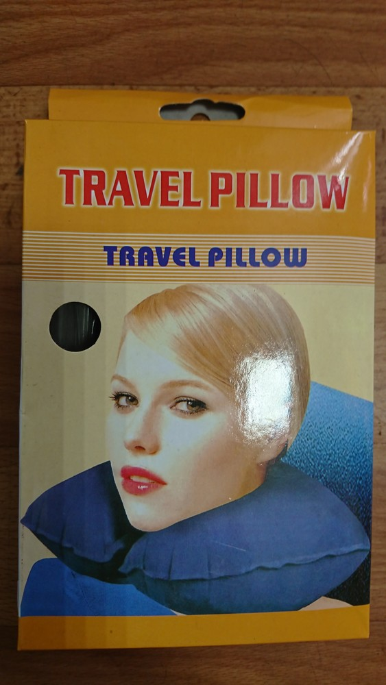 Подушка под шею надувная фото №1