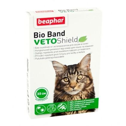 Ошейник от блох, клещей и комаров beaphar veto shield bio доставка бесплатно фото №1