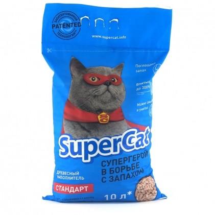 Supercat стандарт древесный наполнитель для кошачьего туалета подходит и для грызунов доставка беспл фото №1
