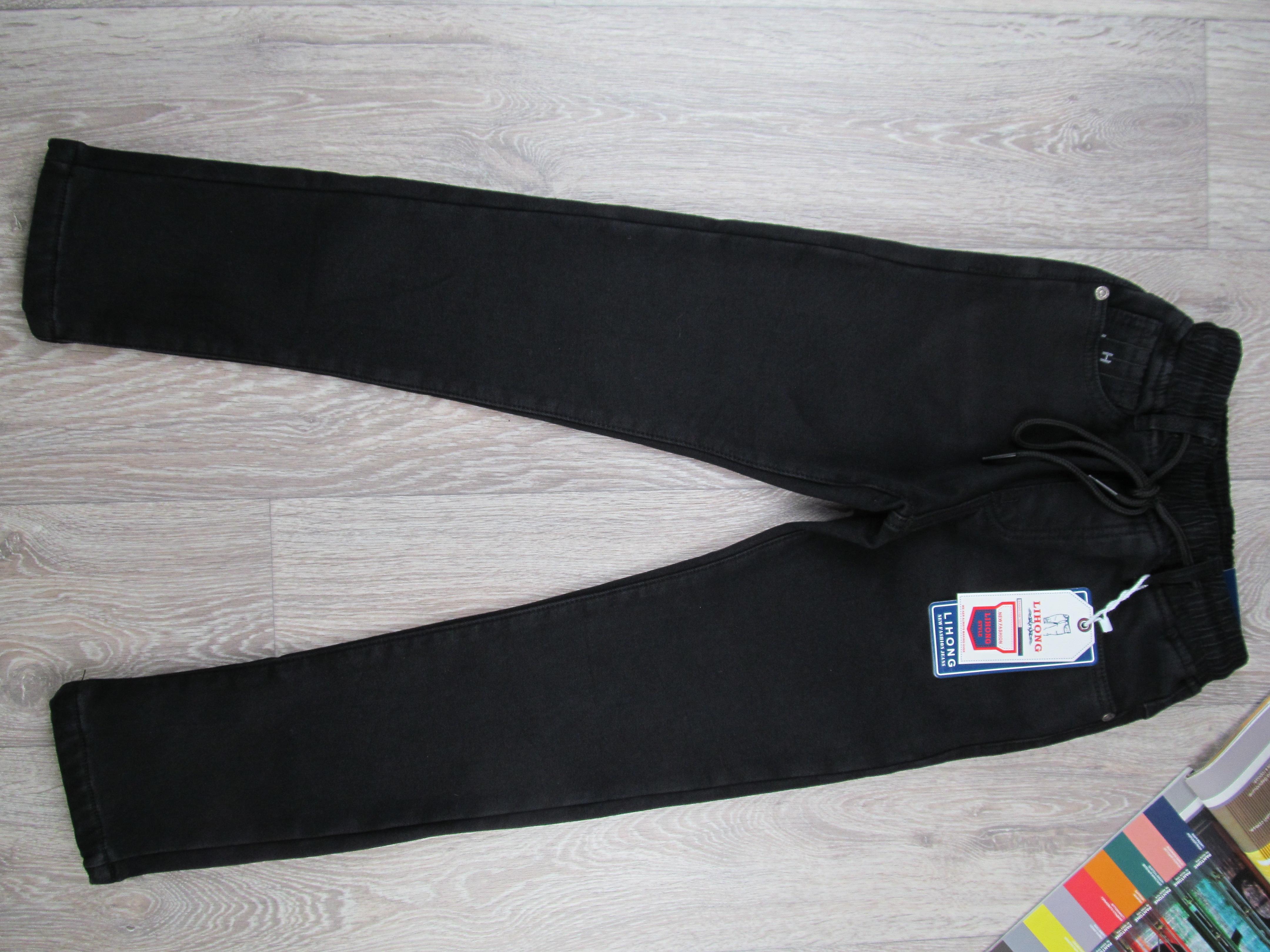 Теплые джинсы на флисе для мальчика. 10-15 лет. фото №1