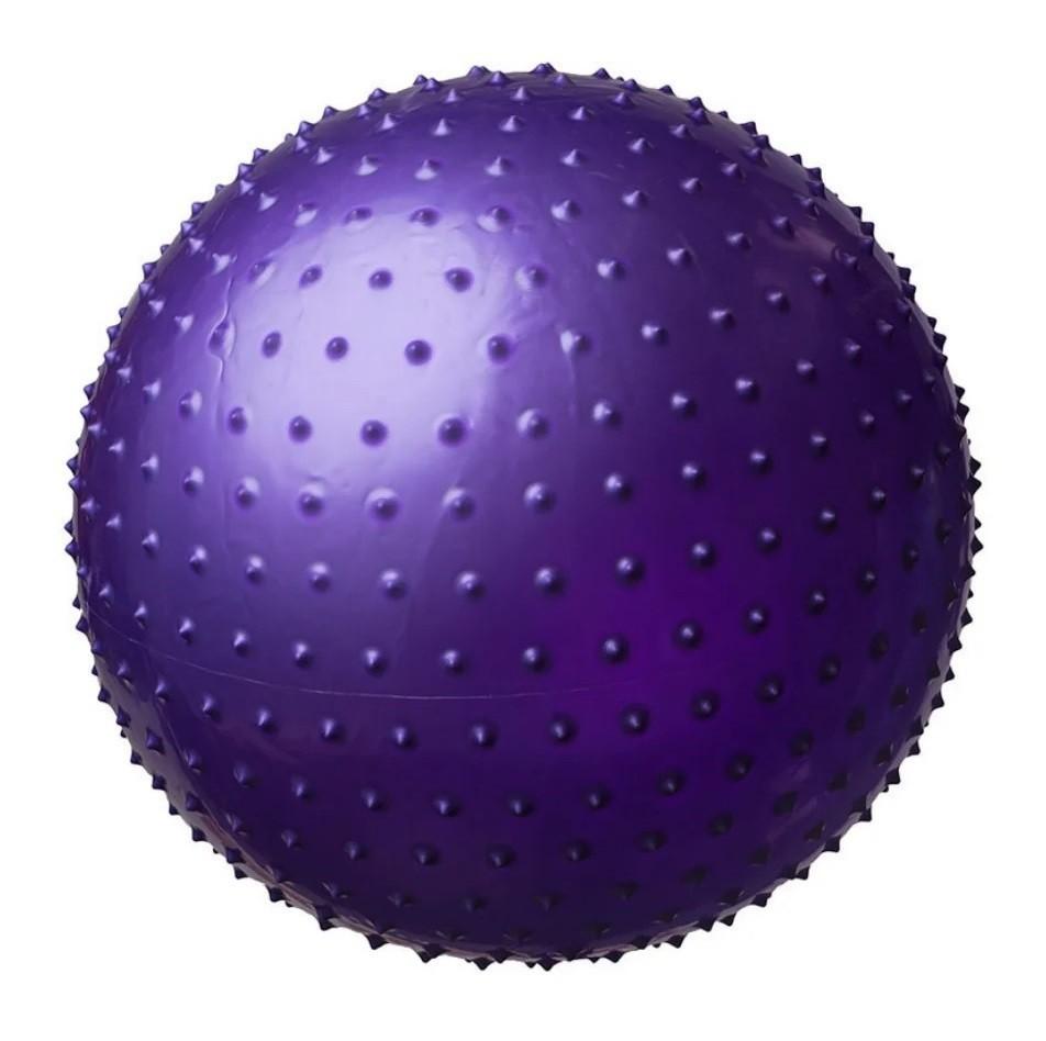 Мяч для фитнеса, фитбол массажный с шипами, 55 см. с насосом - gym ball фото №1