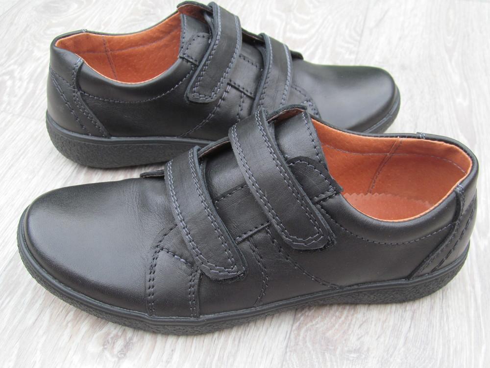 Туфли на липучках для мальчика школа 31--40р фото №1