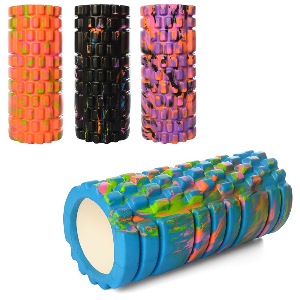 Валик массажный, роллер, ролик для фитнеса и йоги с принтом ms 0857-1 фото №1