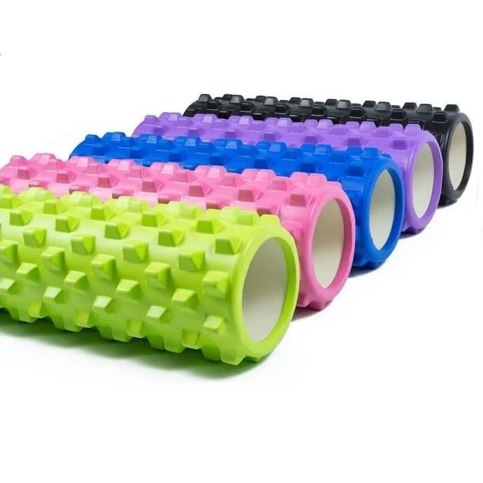 Валик массажный, роллер, ролик для фитнеса и йоги grid roller cf88 eva 33 x 14 см фото №1