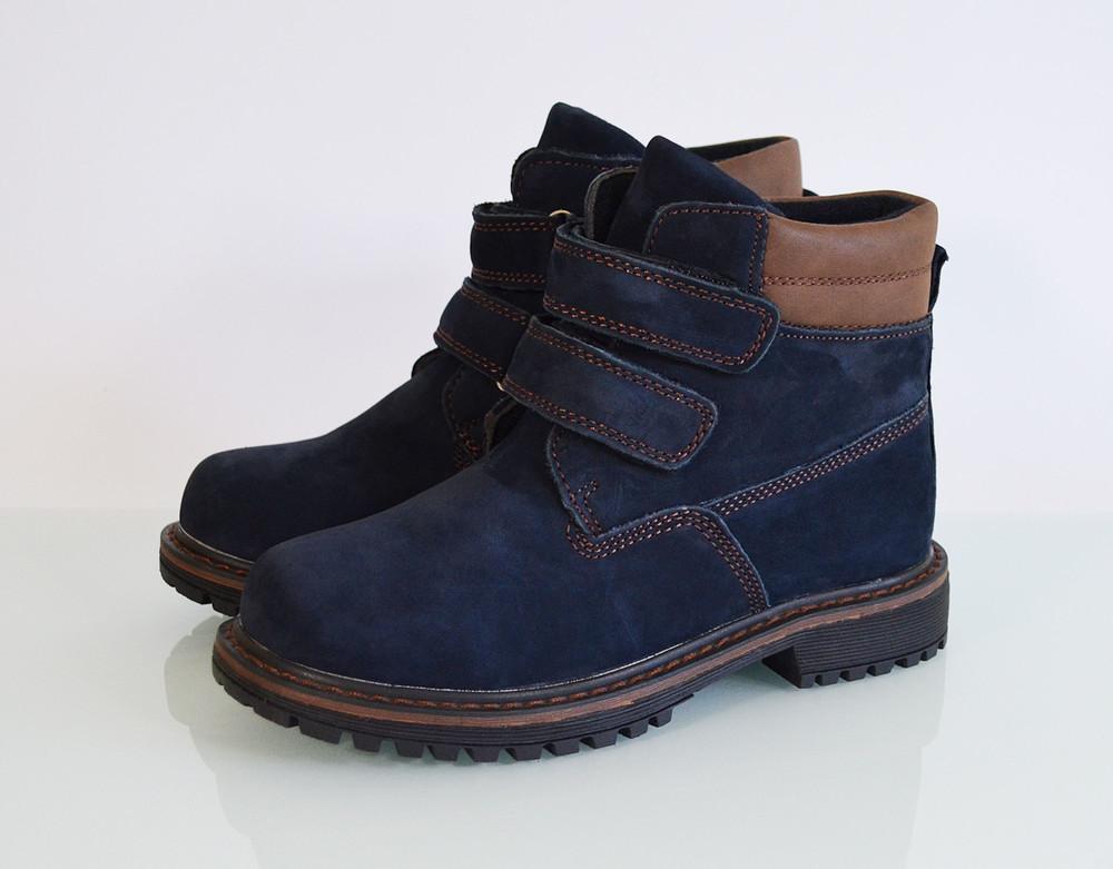 Ботинки демисезонные для мальчика bi&ki. 31-36р. кожа. модель 74-76а фото №1