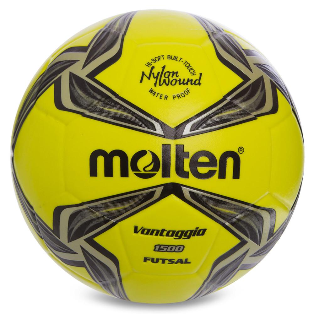 Мяч для футзала №4 molten f9v1500lk (футзальный мяч): размер 4, сшит вручную фото №1
