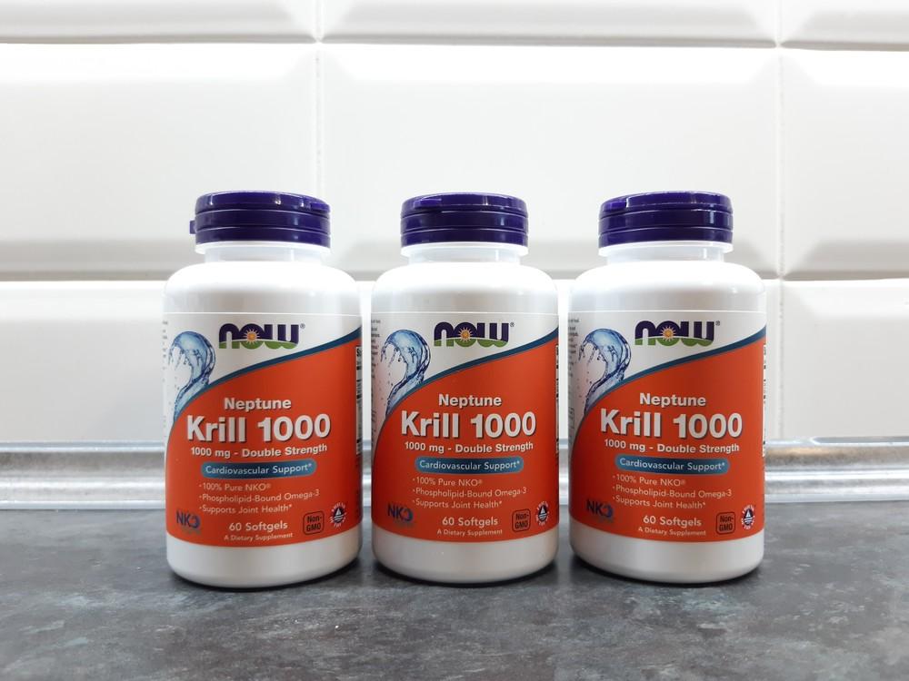 Now foods, neptune krill 1000 (60 капс.= 60 порций), масло криля 2х фото №1