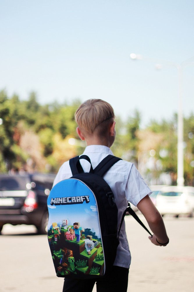 Рюкзак школьный детский прогулочный майнкрафт minecraft розница опт фото №1