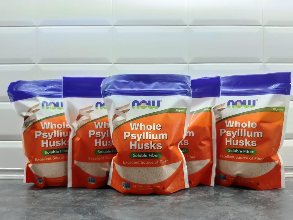 Now foods, whole psyllium husks (454г), клетчатка из подорожника фото №1