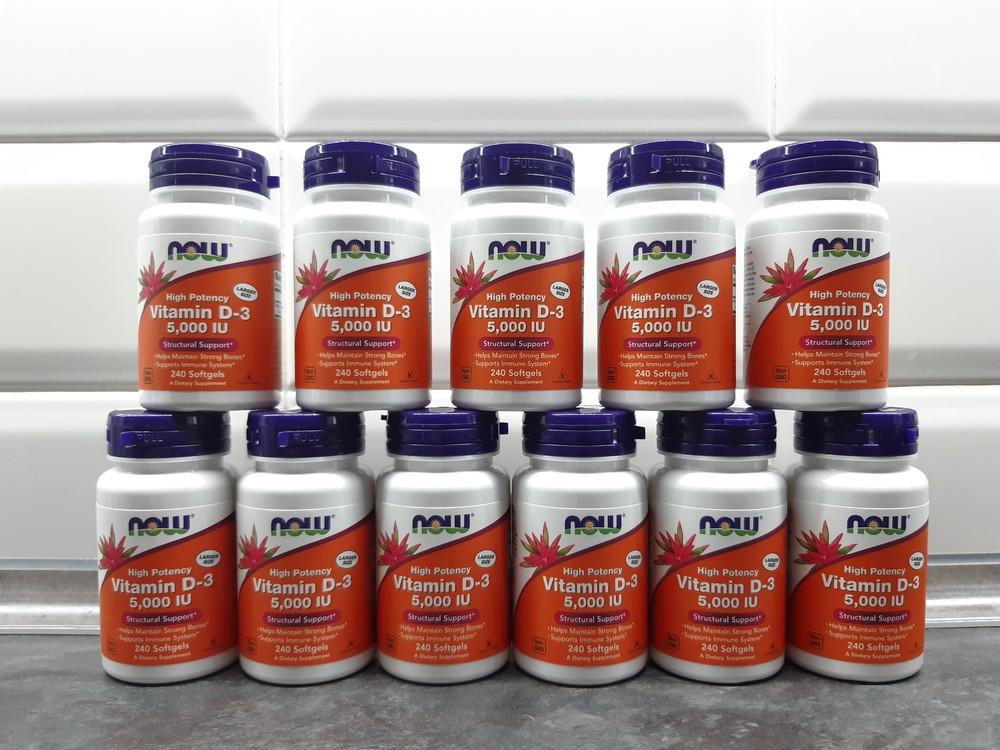 Now foods, витамин d3 (240 капс. по 5000 ме), vitamin d3, вітамін d3 фото №1