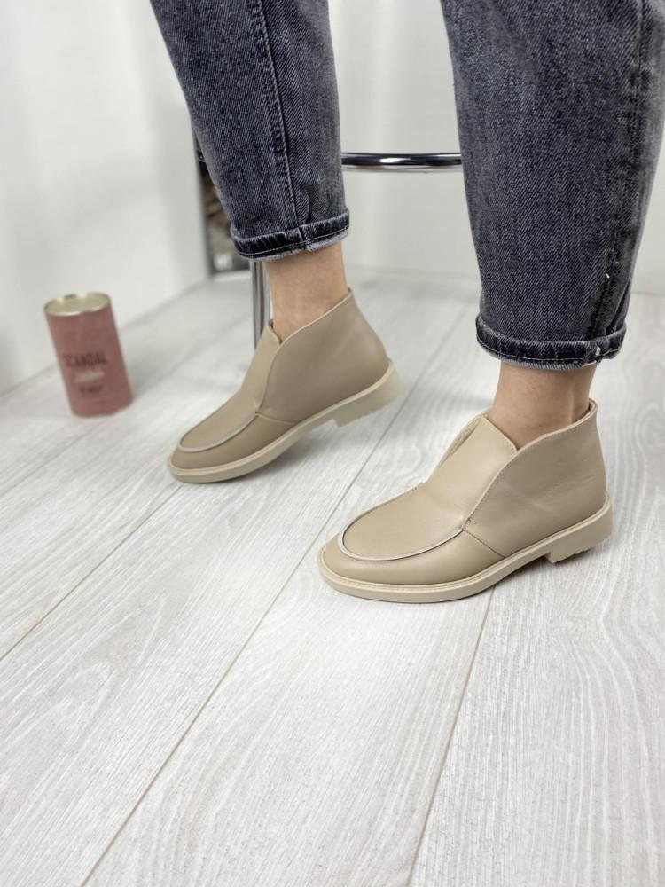 Женские демисезонные туфли лоферы натуральная кожа фото №1