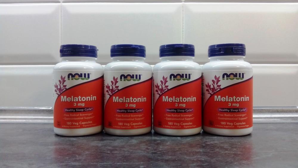 Мелатонин now foods, 180 капсул по 3 мг, melatonin фото №1