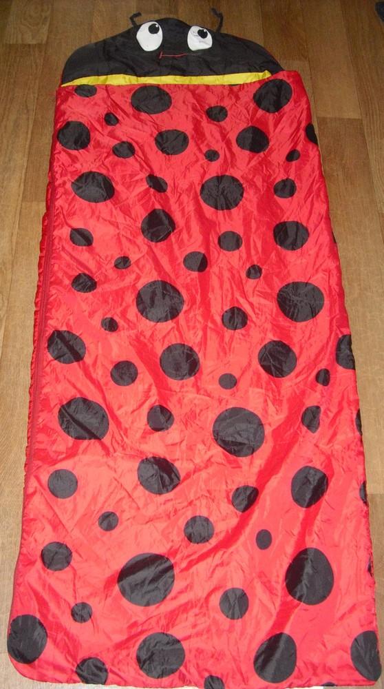 Детский спальный мешок - одеяло с рюкзачком фото №1