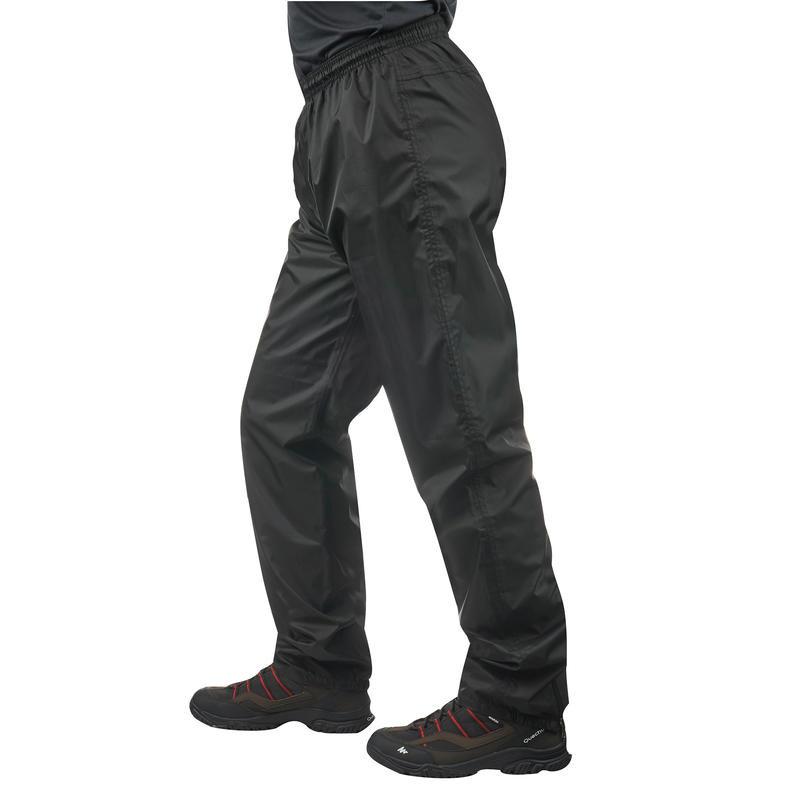 Мужские брюки штаны водонепроницаемые черные waterproof quechua décathlon 30 м фото №1