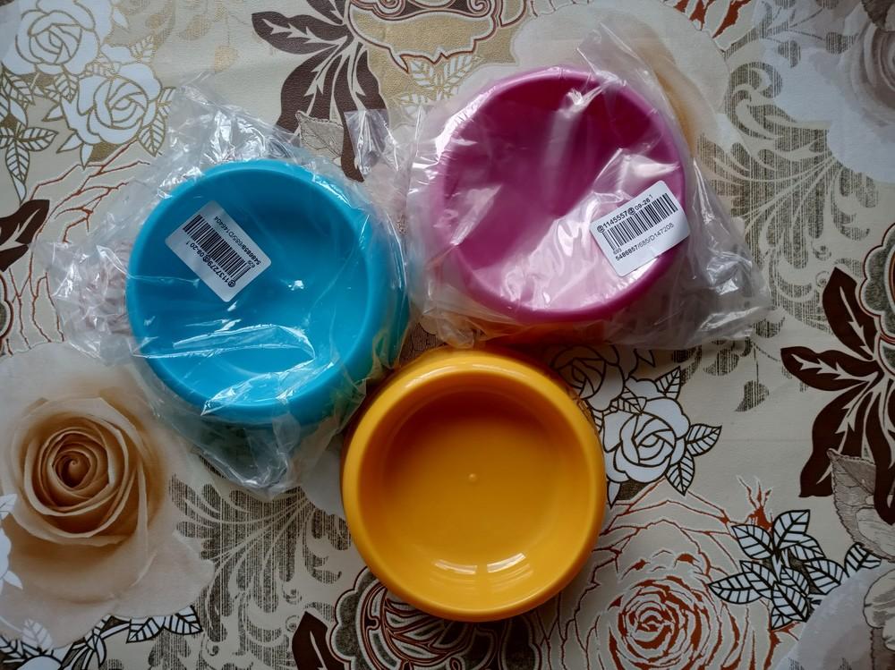 Новая миска для животных / тарелка / поилка фото №1