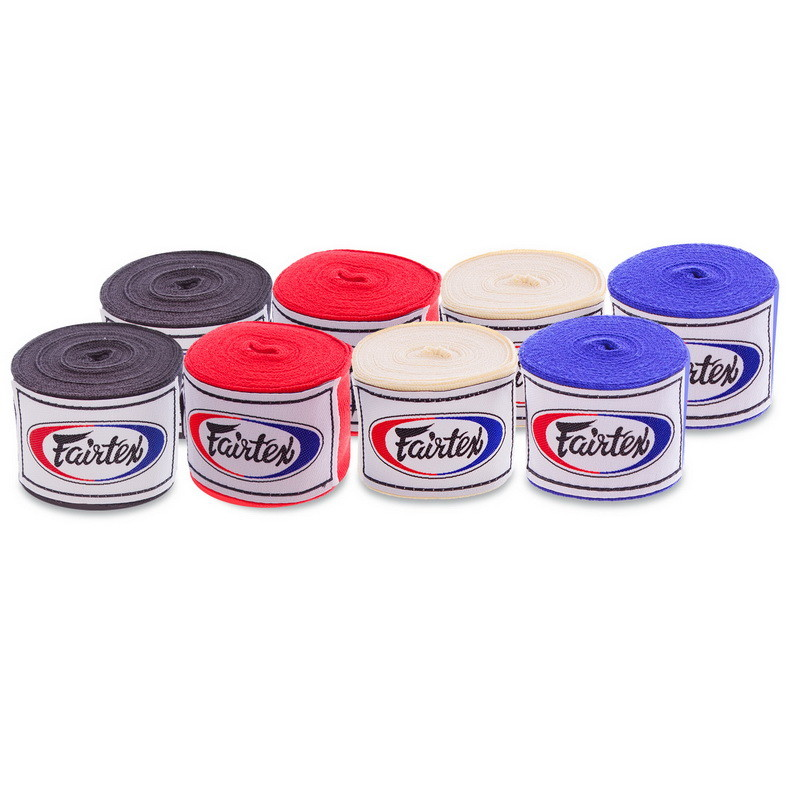 Бинты боксерские fairtex hw2-5: длина 5м, хлопок (4 цвета) фото №1