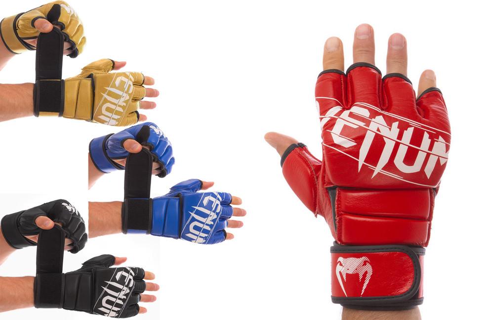 Перчатки гибридные для единоборств кожаные vemun 0014: размер s-l (4 цвета) фото №1