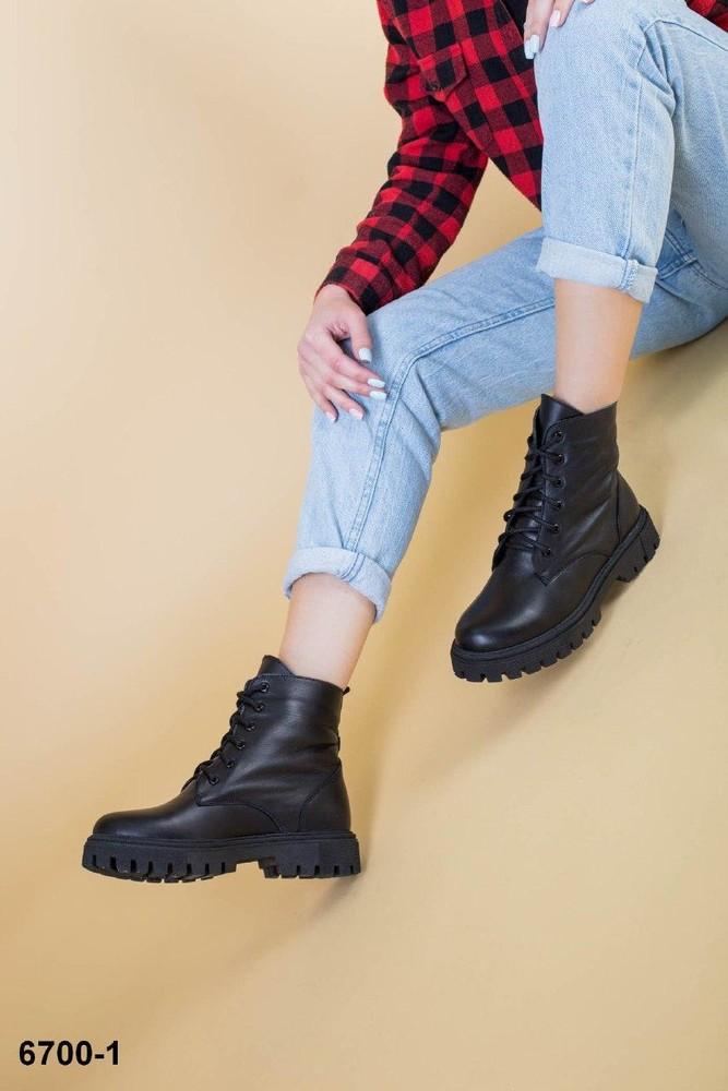 Кожаные ботинки деми/зима фото №1