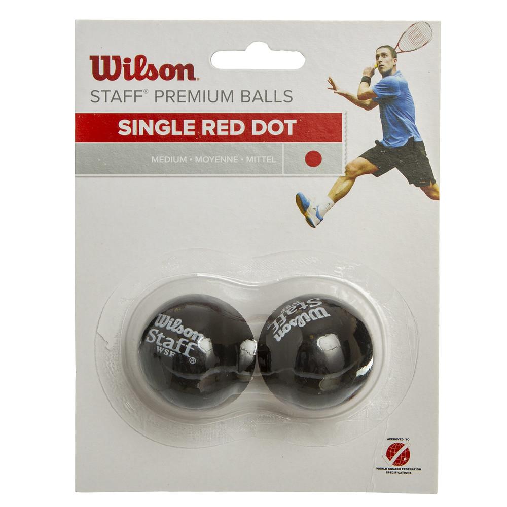 Мяч для сквоша wilson staff 617700: 2 мяча в комплекте (средний мяч) фото №1