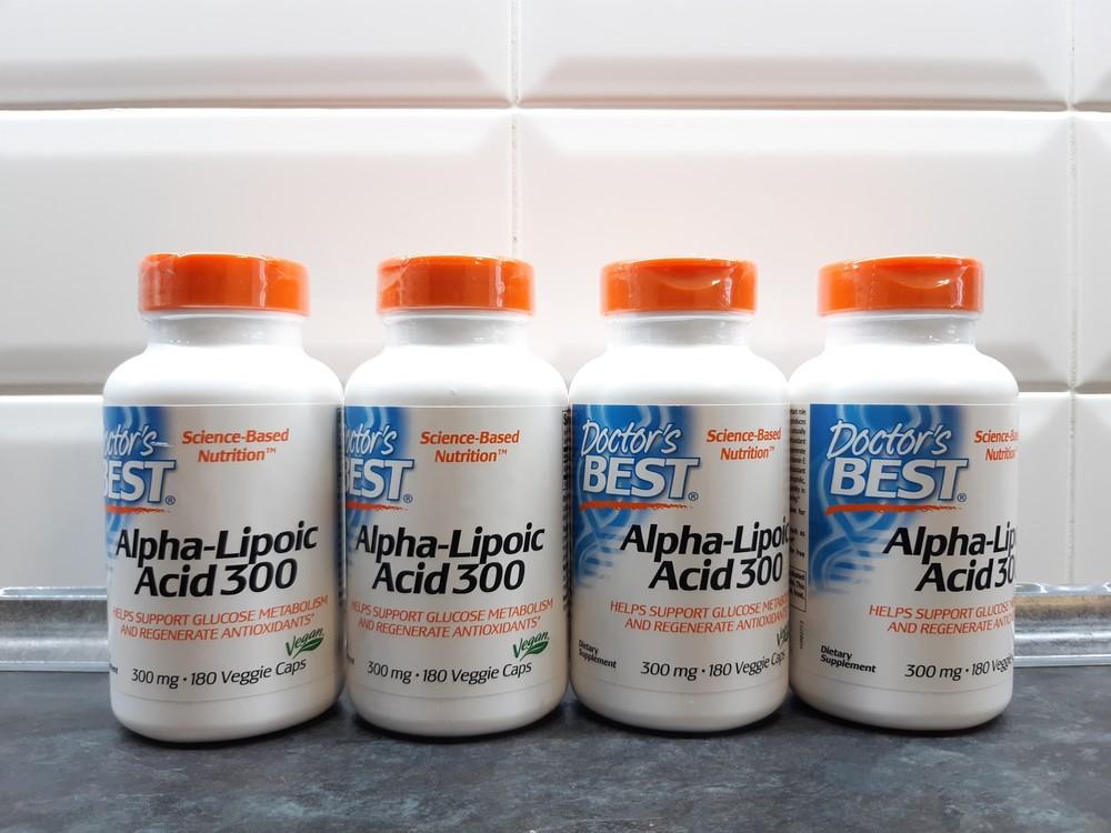 Doctors best, альфа-липоевая кислота, 180 капсул х 600 мг, alpha-lipoic фото №1