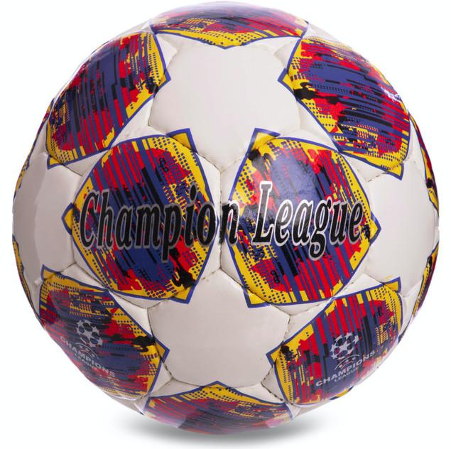 Мяч футбольный №5 final madrid 8120: pu, сшит вручную фото №1
