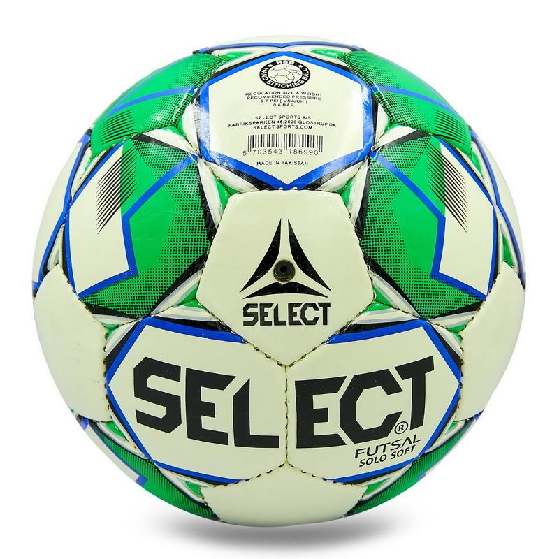 Мяч футбольный select solo soft 8157: размер №4 (сшит вручную) фото №1