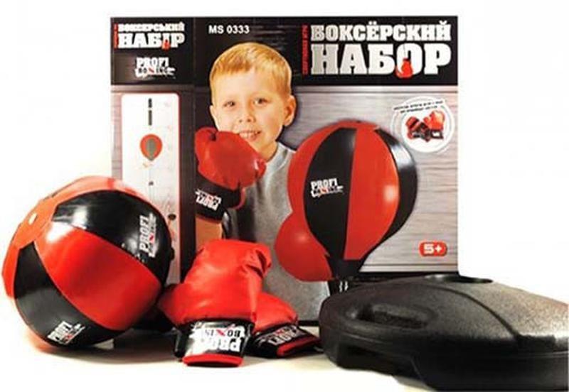 Боксерский набор на стойке profi boxing ms 0332 бокс груша напольная 4 вида фото №1