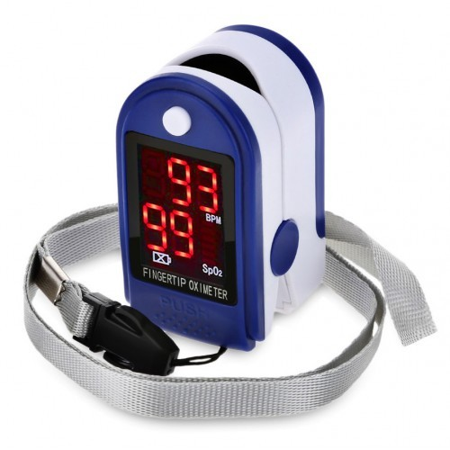 Портативный пульсометр оксиметр на палец pulse oximeter jzk-302 фото №1