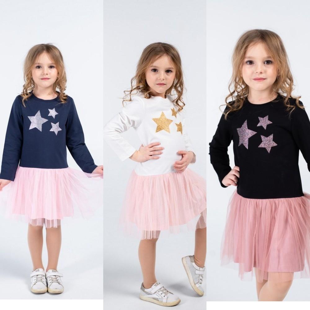 Платье со звездами 110-134 фото №1
