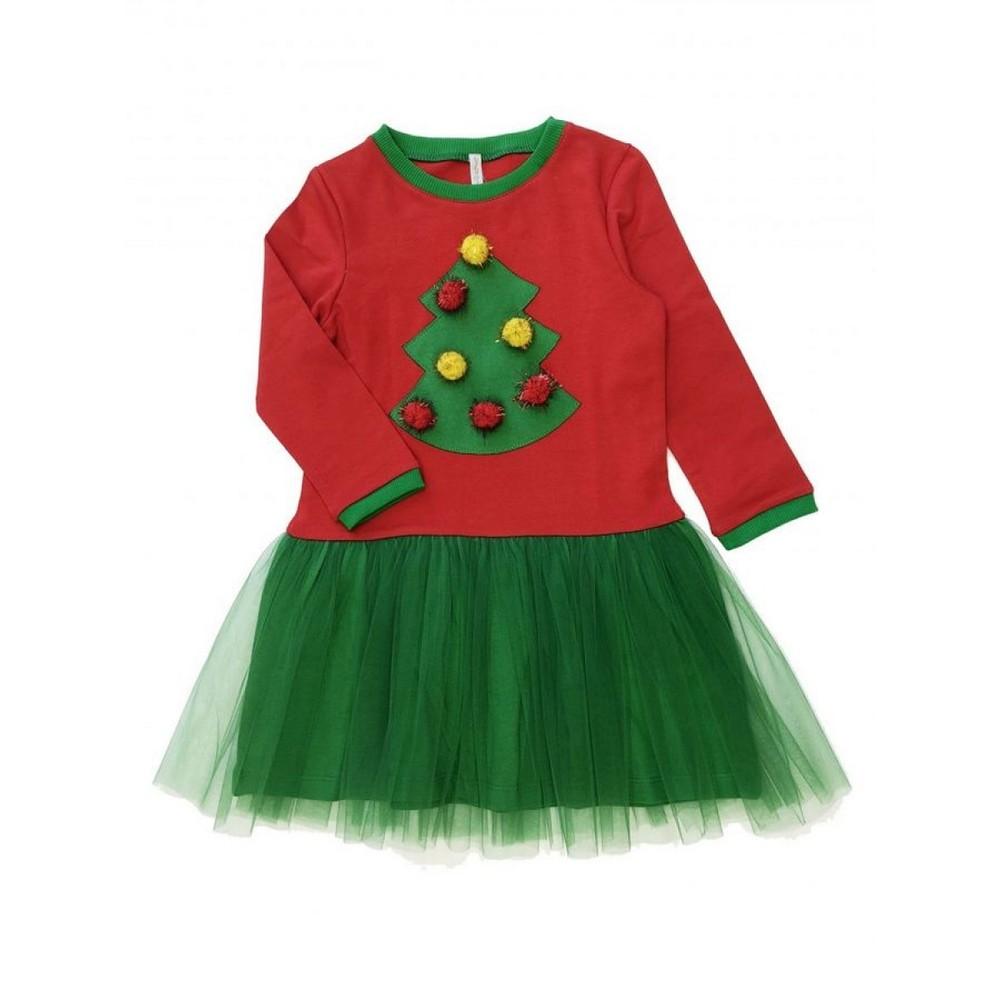 Платье новогоднее для девочки, в наличии р.98, 104, 110,128 фото №1