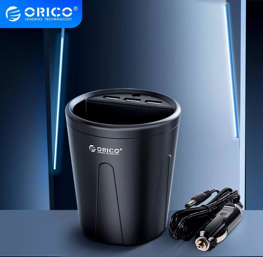 Автомобильное зарядное устройство orico 3 usb, 36 вт фото №1