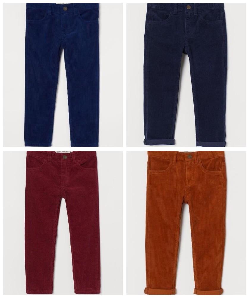 Вельветовые штаны h&m для мальчиков 1,5-2,2-3,3-4,4-5,5-6,6-7,7-8,8-9,9-10 лет фото №1