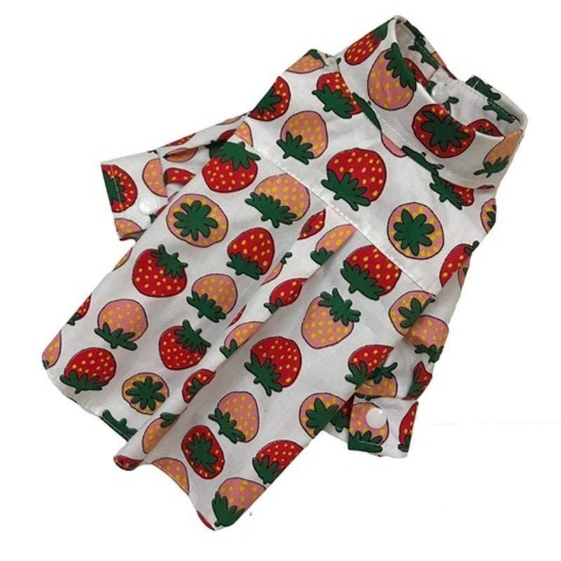 Рубашка клубники хлопок унисекс одежда для собак фото №1