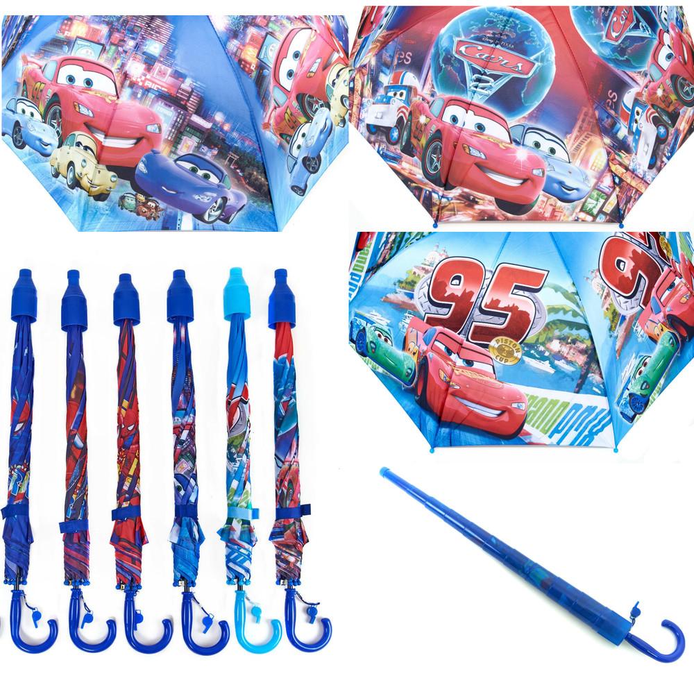 Качественный зонт трость для мальчика тачки маквин в складном чехле фото №1