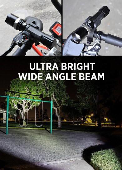 Велофонарь аккумуляторный bl-8626w фото №1
