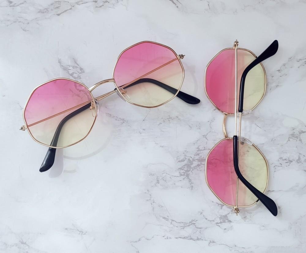 Очки с линзами градиент имиджевые . стильні окуляри фото №1