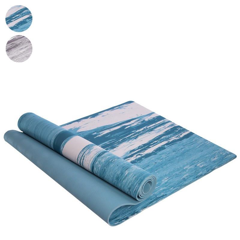 Коврик для фитнеса и йоги резиновый 2316: размер 1,83х0,61м (толщина 4мм) фото №1