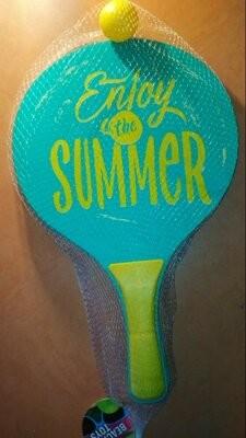 Набір дерев'яних ракеток для пляжного тенісу beach toys нідерланди фото №1
