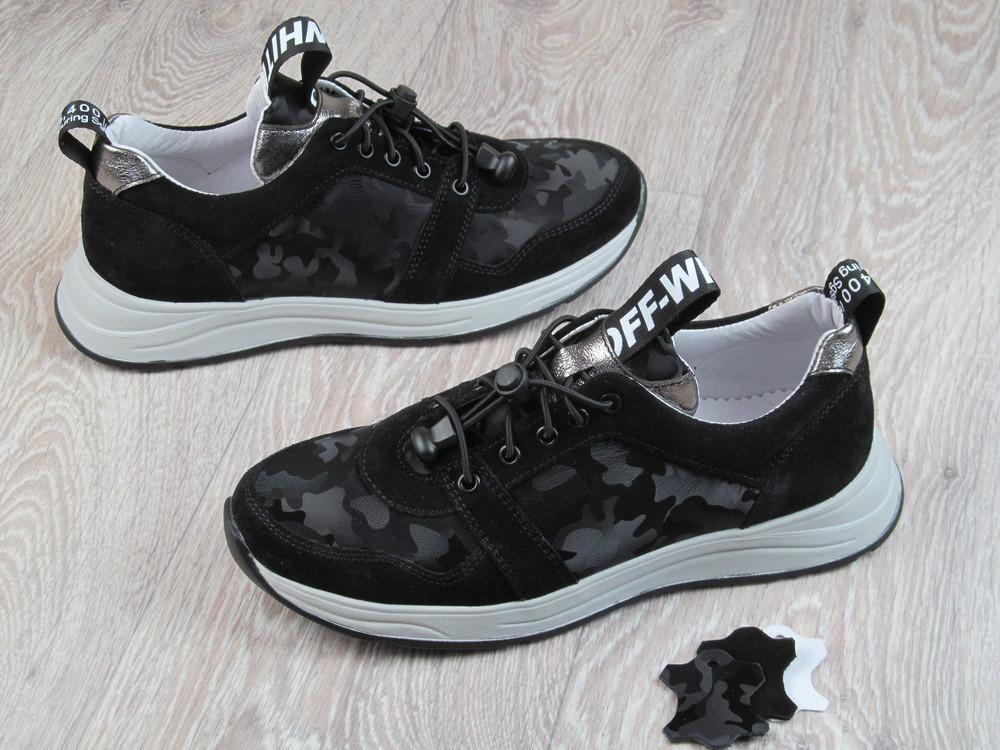 Кожаные кроссовки для девочек 32--40 рр фото №1