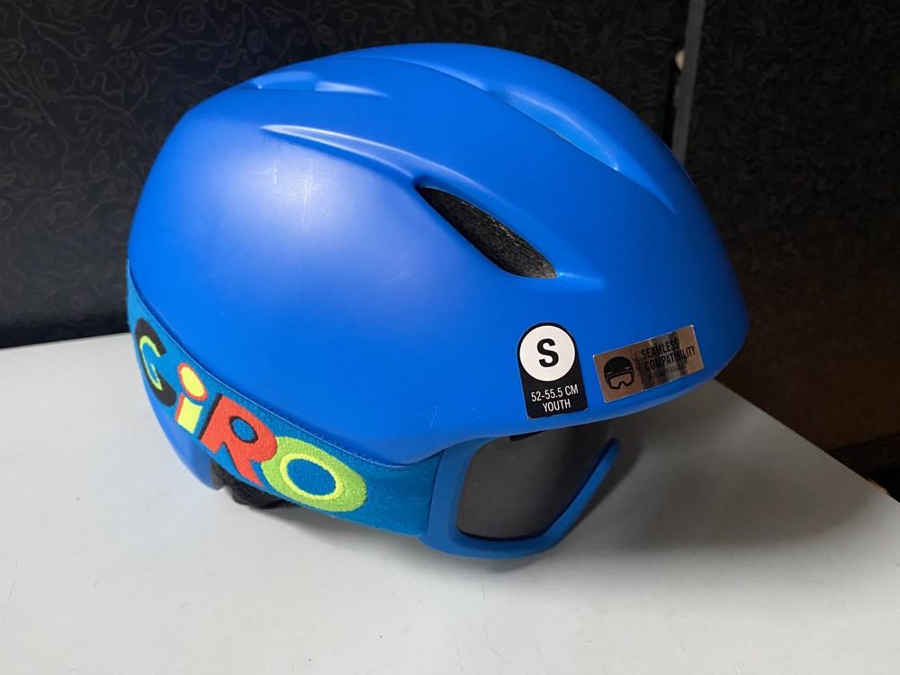 Горнолыжный шлем с очками giro launch размер s детский. на обхват головы 52-55,5 см фото №1