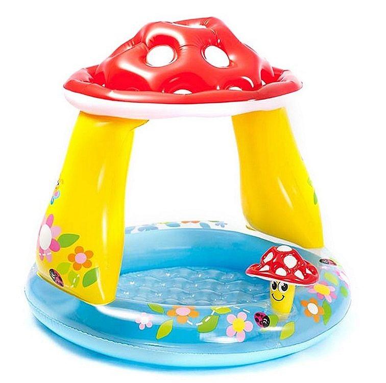 Надувной бассейн грибочек с навесом intex 57114np фото №1