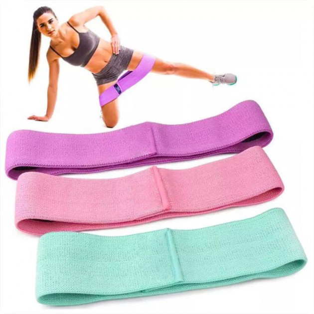 Тканевые фитнес резинки , фитнес ленты поштучно и наборами фото №1