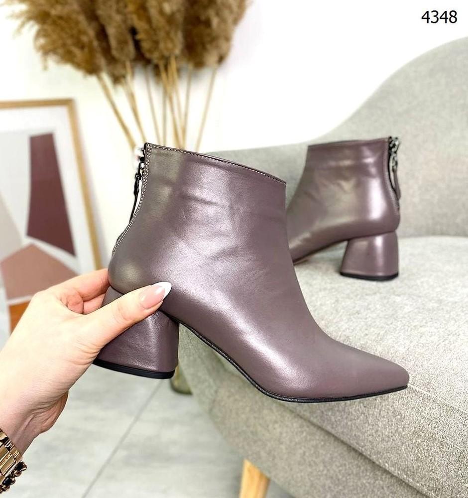 Ботильоны= elegant= на устойчивом каблуке, натуральная кожа фото №1