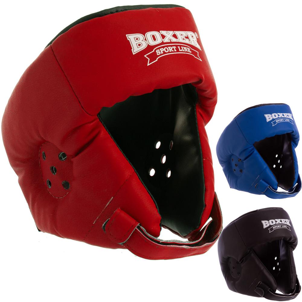 Шлем боксерский открытый кожвинил boxer 2028 (шлем для бокса): размер l (3 цвета) фото №1