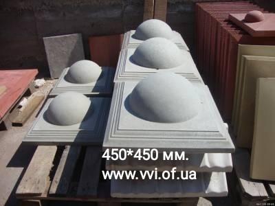 Колпак бетонный на столб фото №1
