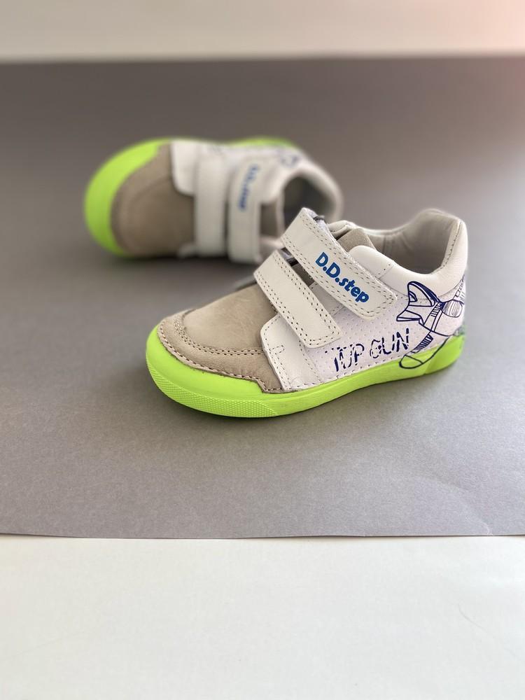 Кожаные кроссовки с led подошвой фото №1
